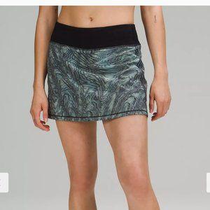 NWT Lululemon Pace Rival Skirt Multi Blue 4 Tall